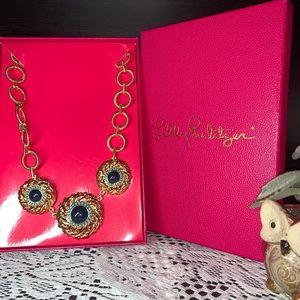 Lilly Pulitzer the Vías Gold Tone Necklace NIB